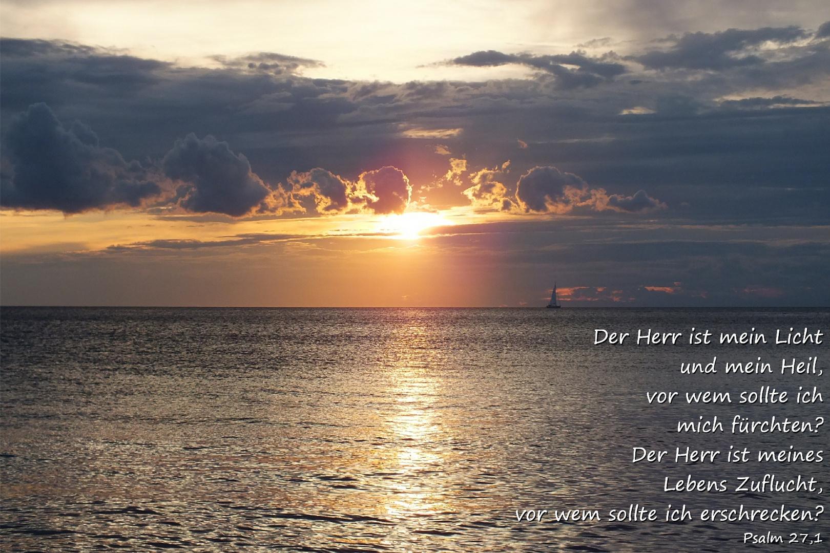 Sonnenuntergang Kroatien.....Psalm 27,1