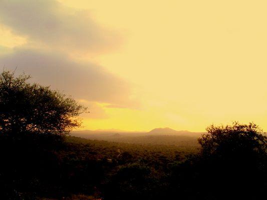 Sonnenuntergang Kruger Park