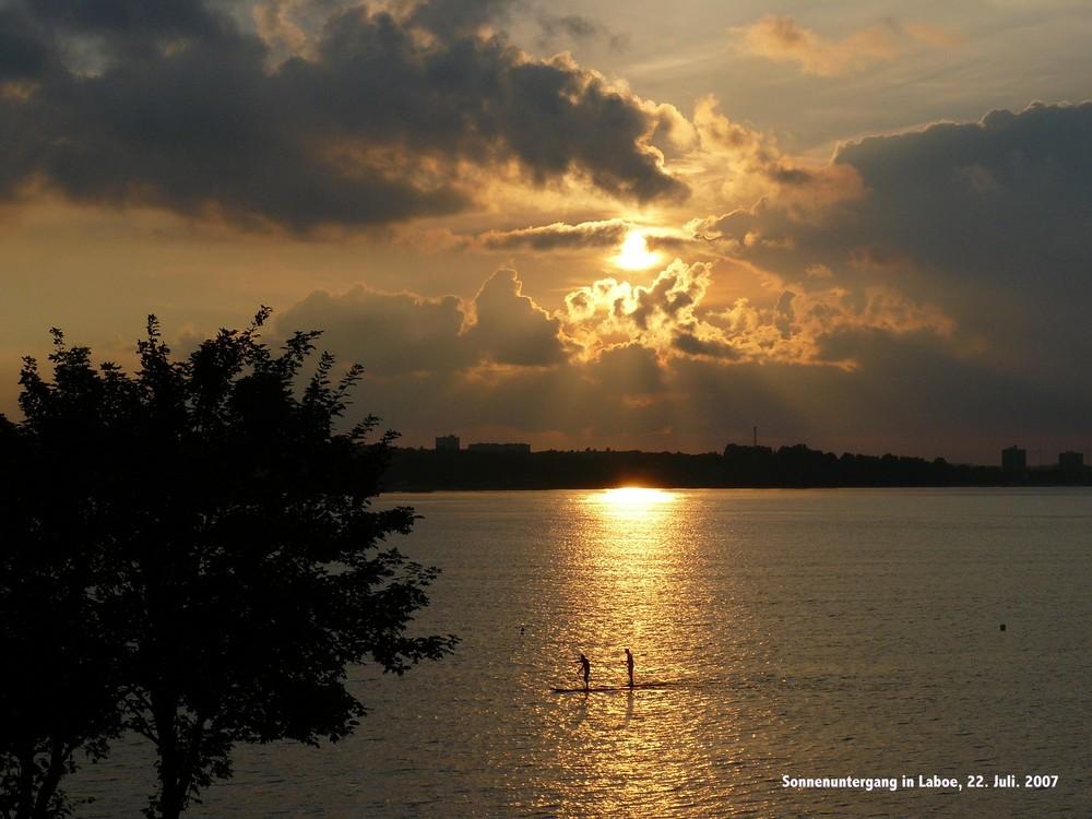 Sonnenuntergang Laboe