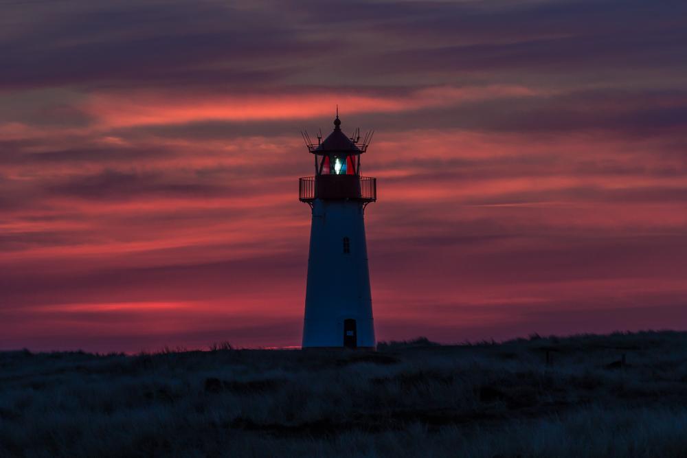 Sonnenuntergang Leuchtturm List (West)