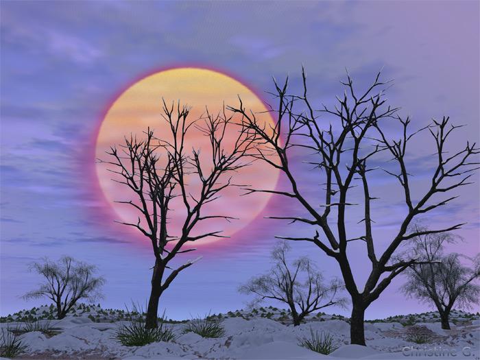 Sonnenuntergang made im PC :o)