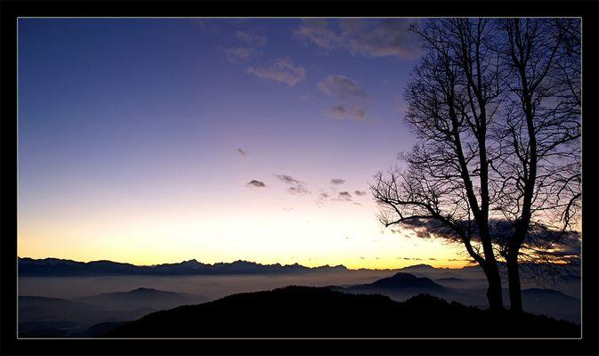 Sonnenuntergang Magdalensberg in Kärnten - 1.051 m