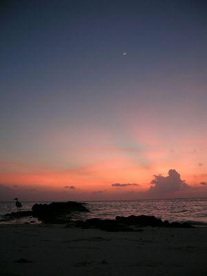sonnenuntergang malediven