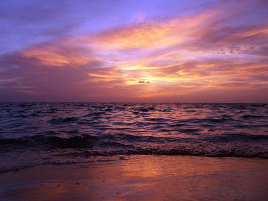 Sonnenuntergang Maledivisch