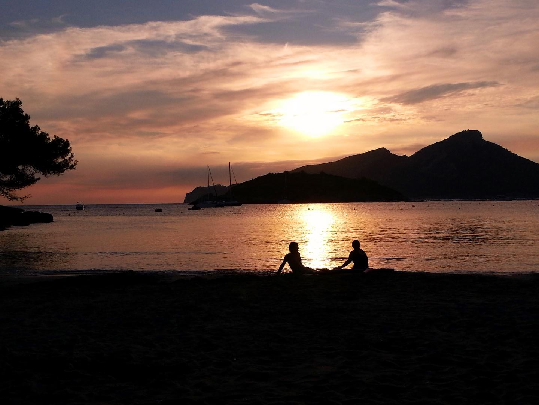 Sonnenuntergang Mallorca, San Telm