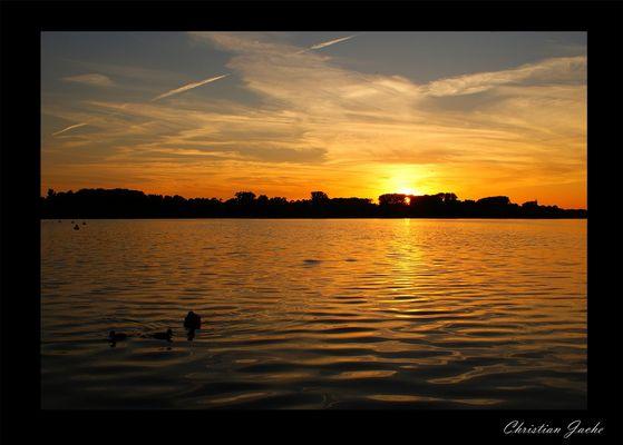 Sonnenuntergang Maschsee 2