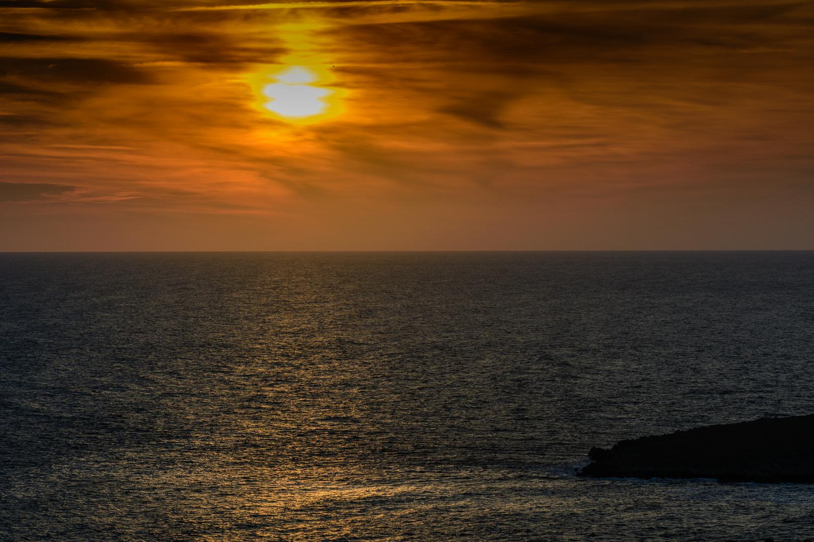 Sonnenuntergang Menorca Nord 2013