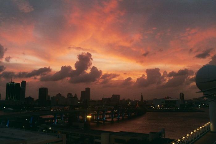 Sonnenuntergang-Miami