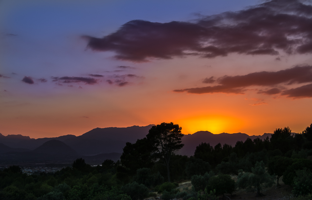 Sonnenuntergang mit Blick auf Port d'Alcúdia/Mallorca