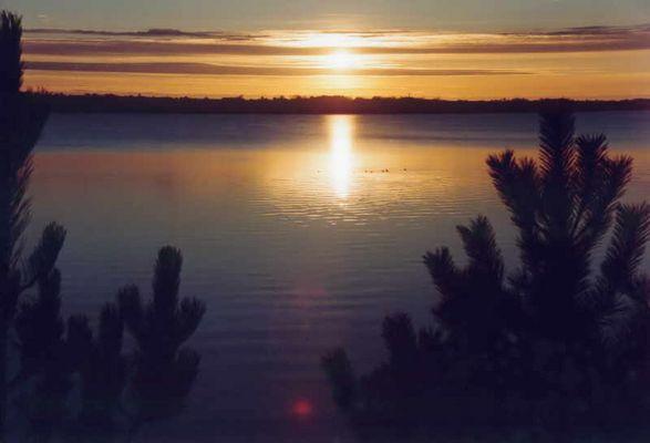 Sonnenuntergang mit Blick Richtung Schleswig