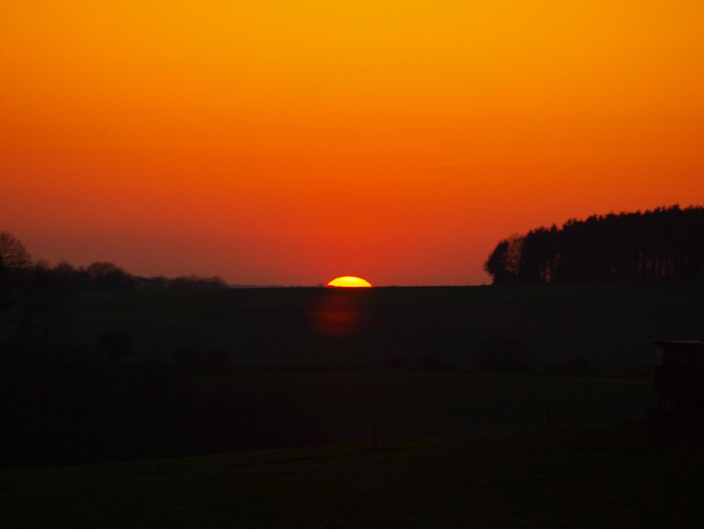 Sonnenuntergang mit Frage