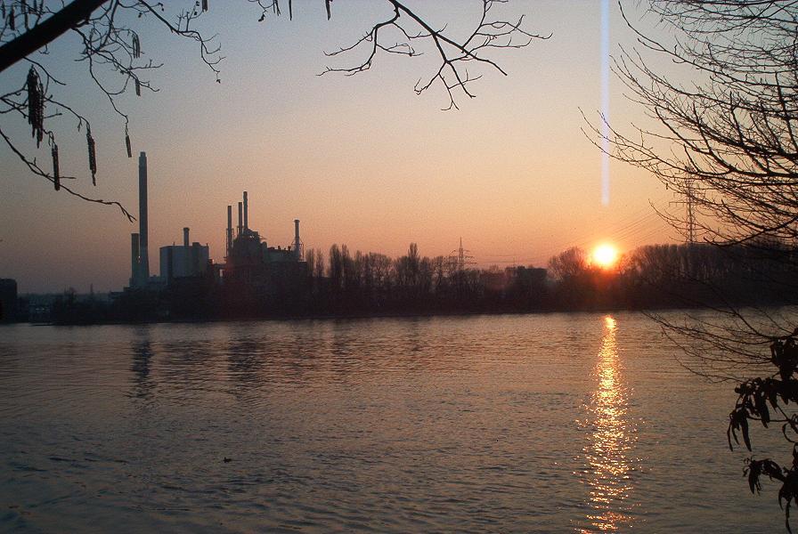 Sonnenuntergang mit Hinderniss
