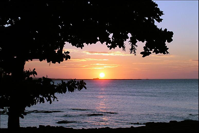 Sonnenuntergang mit Hoffnung