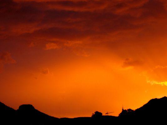 Sonnenuntergang mit Lilienstein