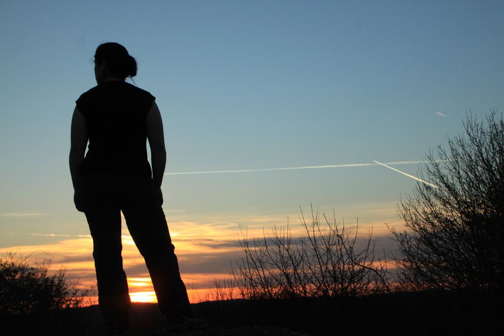 Sonnenuntergang mit Schatzi ;)