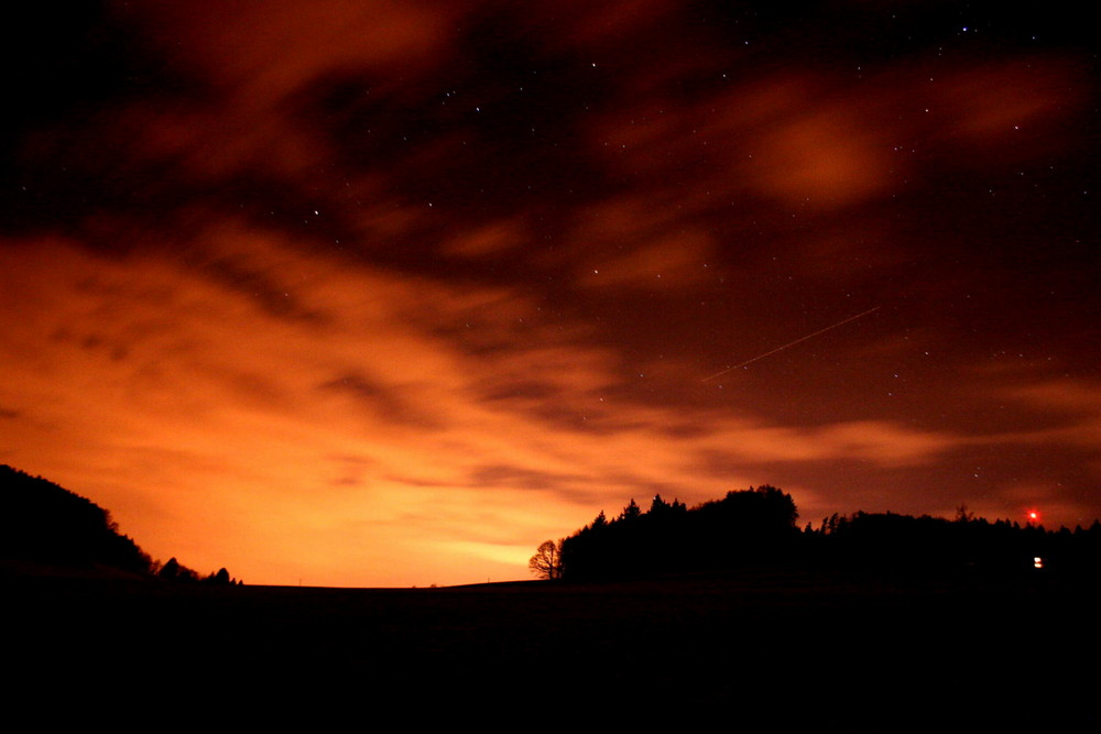 Sonnenuntergang mit Sternen
