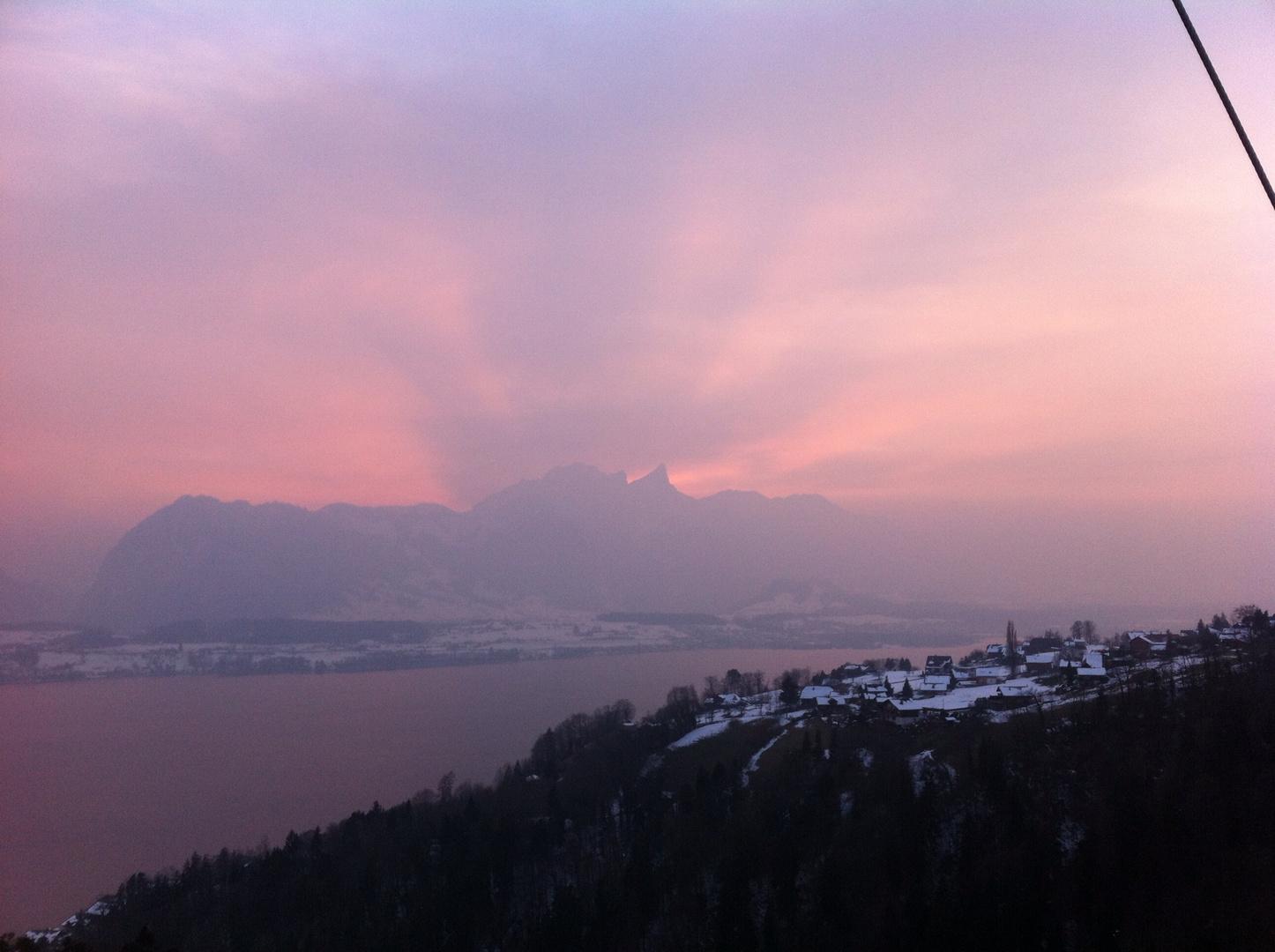 Sonnenuntergang mit Stockhorn