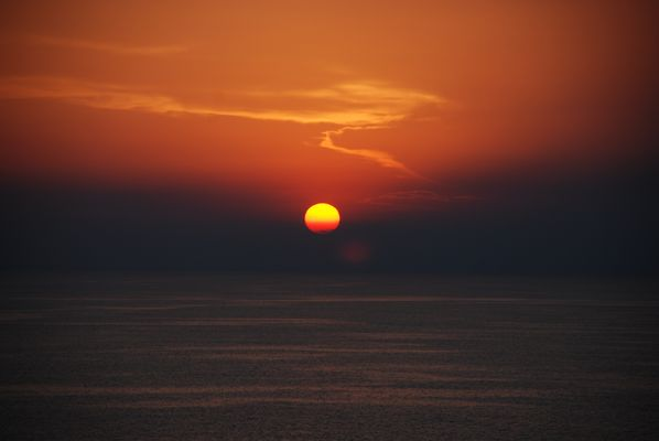 Sonnenuntergang Mittelmeer