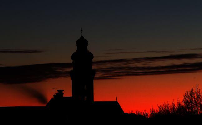 Sonnenuntergang München