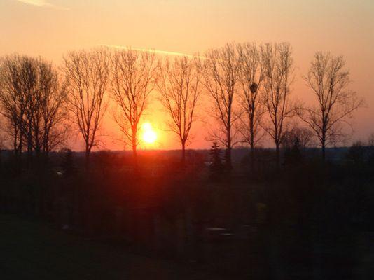Sonnenuntergang nahe Frankfurt
