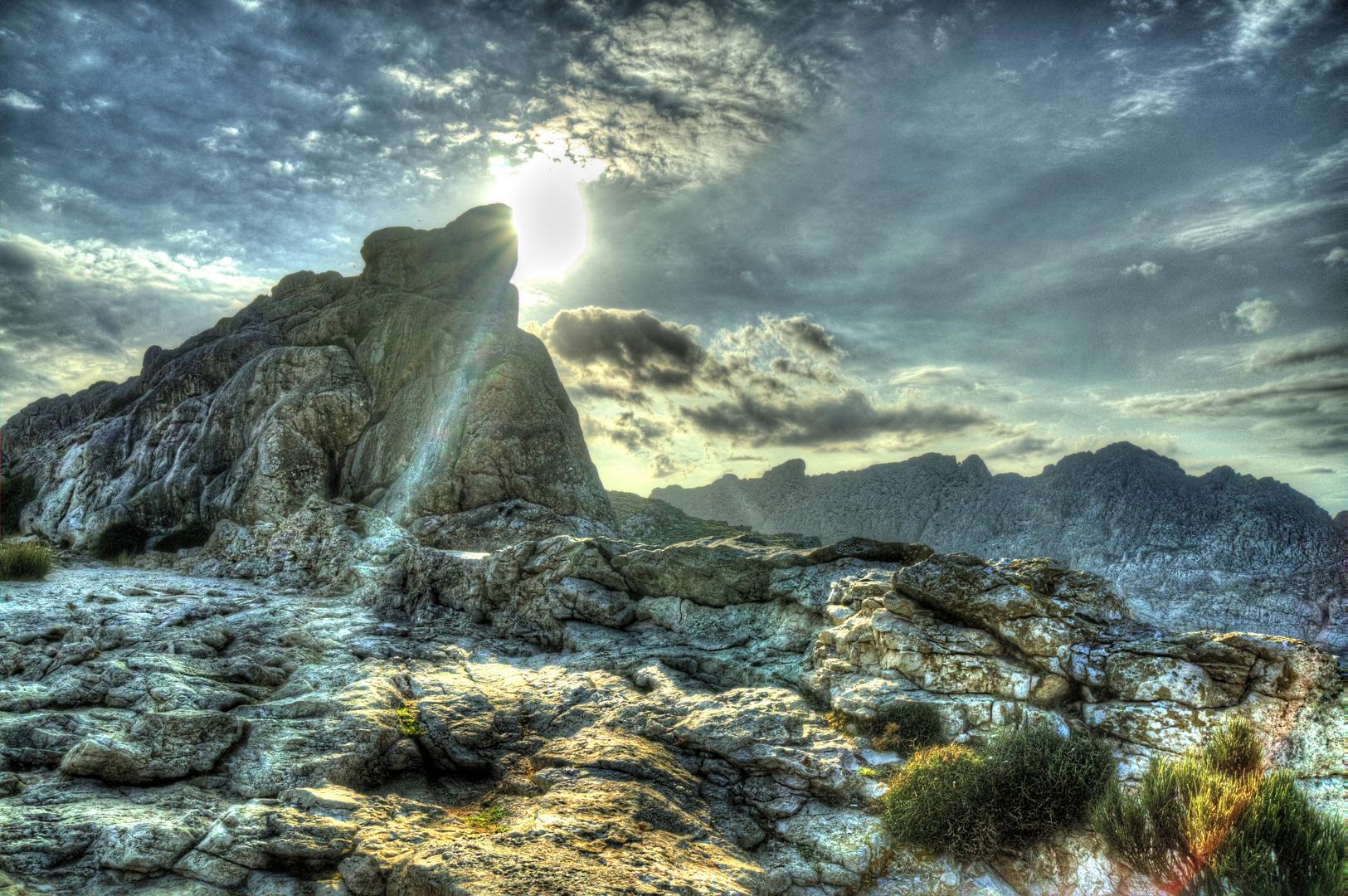 Sonnenuntergang nahe Kap Formentor auf Mallorca