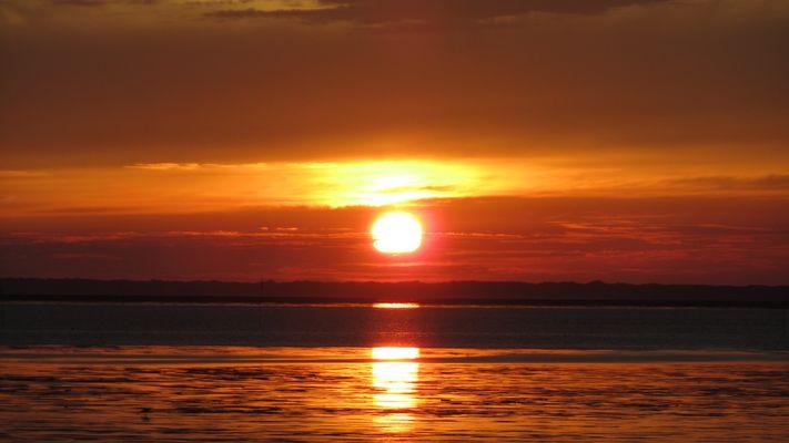 Sonnenuntergang Norddeich <3