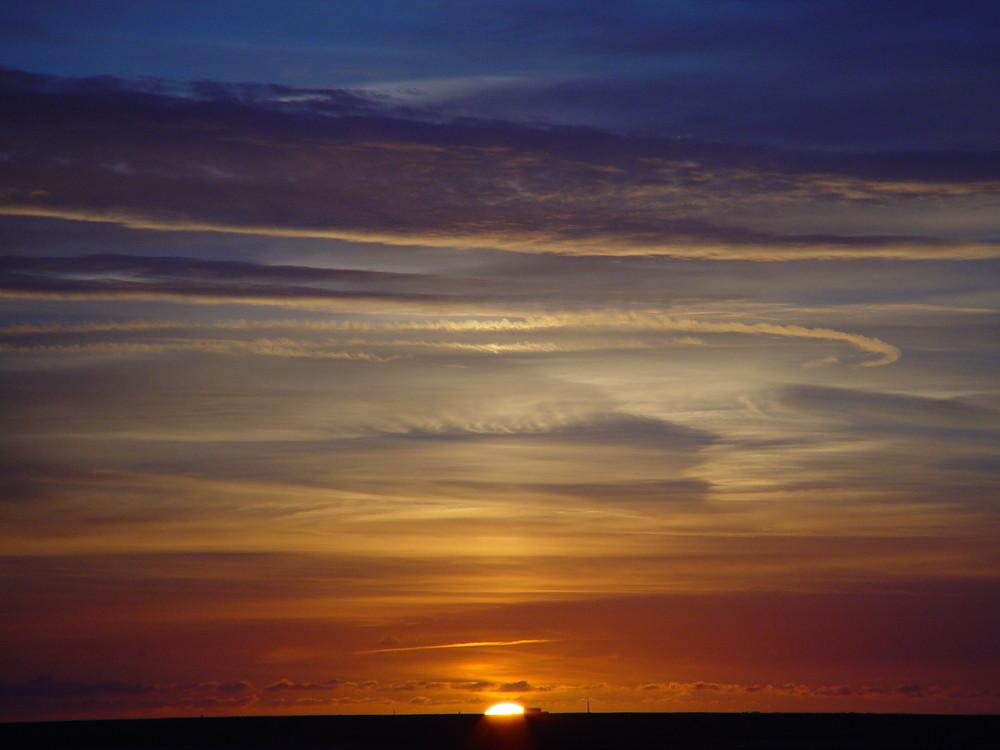 Sonnenuntergang Nordseeküste im Oktober