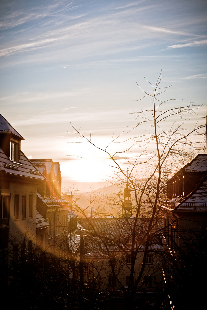 Sonnenuntergang Oberstadt