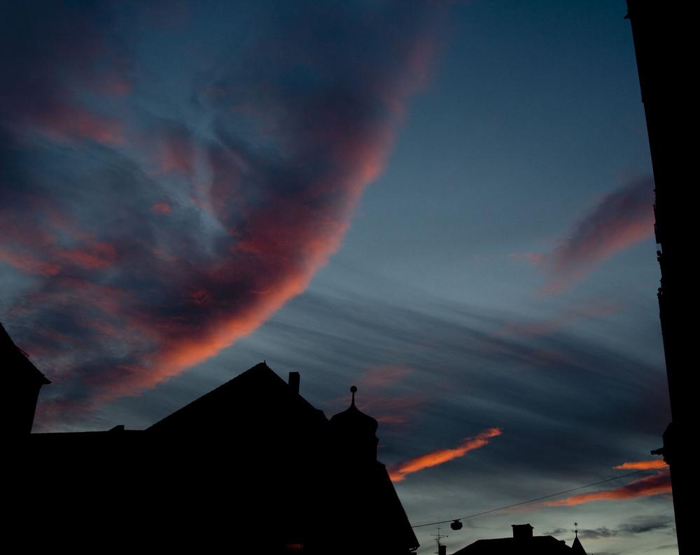 Sonnenuntergang oder Weltuntergang
