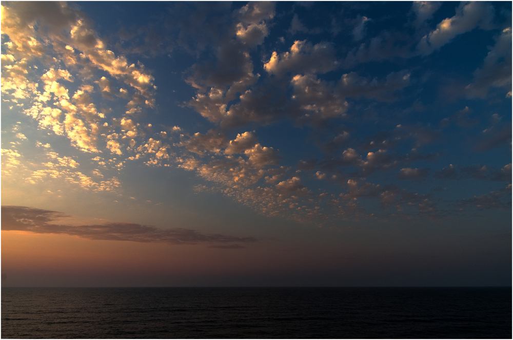 Sonnenuntergang ohne Sonne