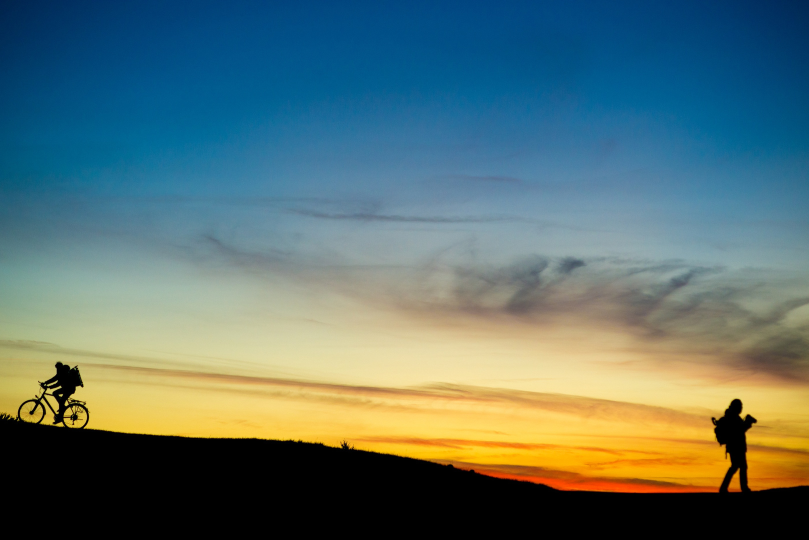 Sonnenuntergang Olympiaberg