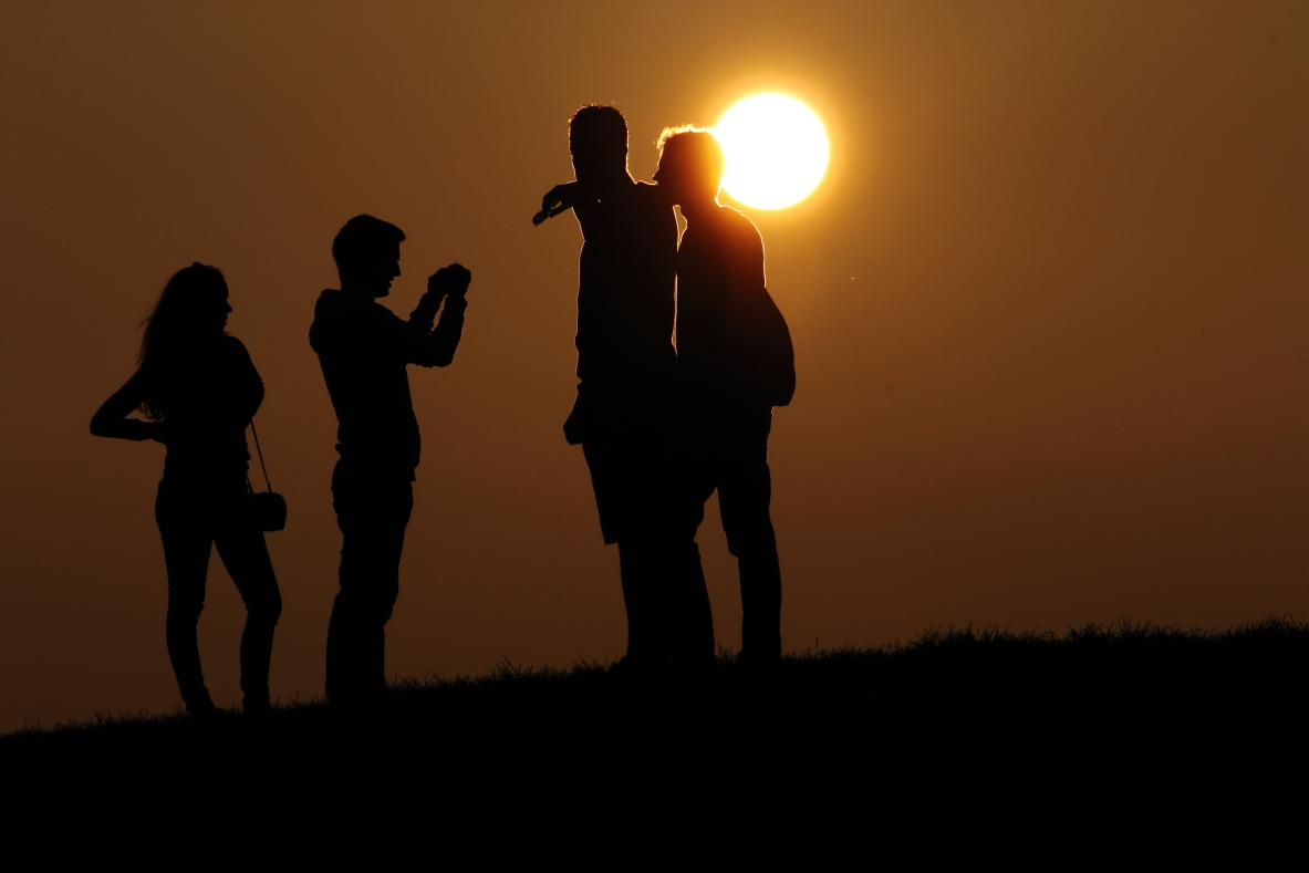 Sonnenuntergang Olympiapark