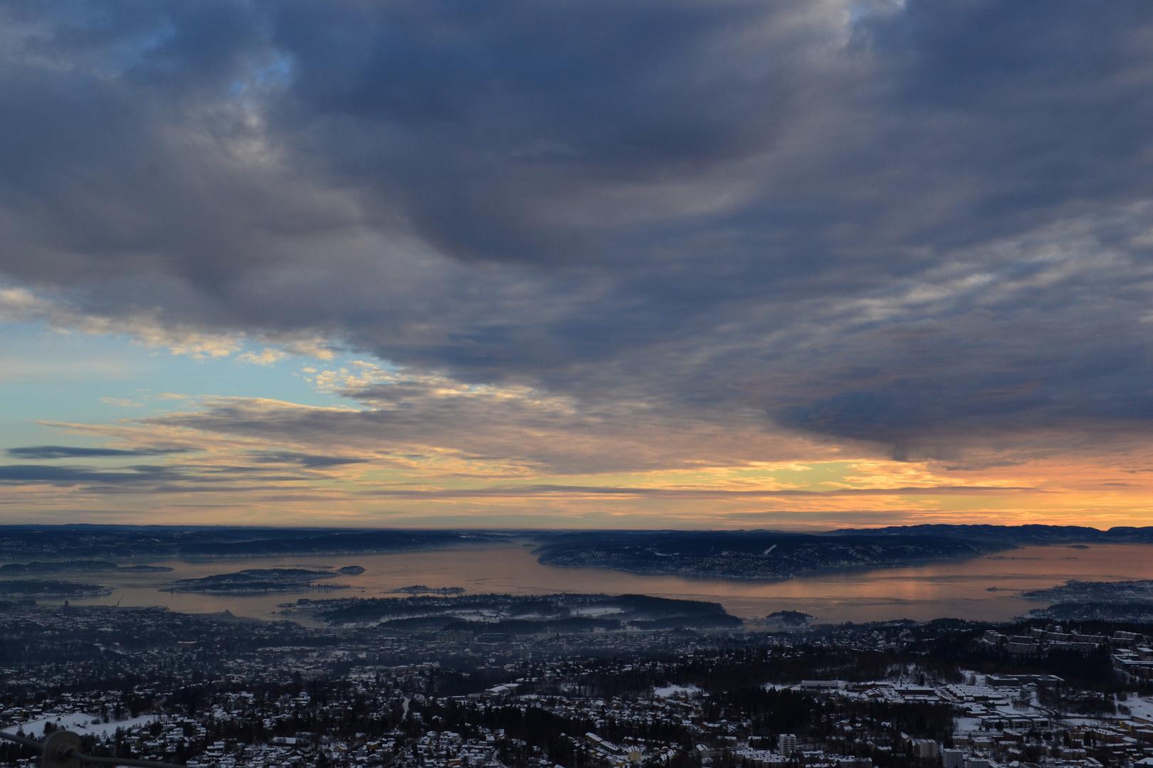 Sonnenuntergang Oslo