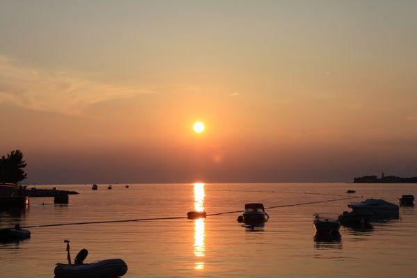 Sonnenuntergang Porec Kroatien