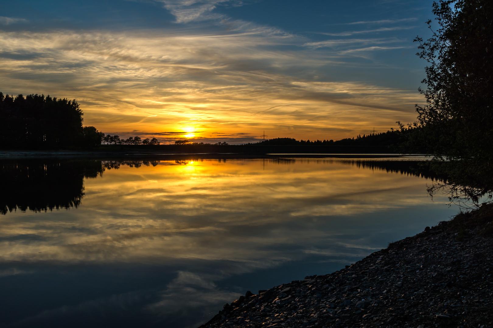 Sonnenuntergang Querentalsperre