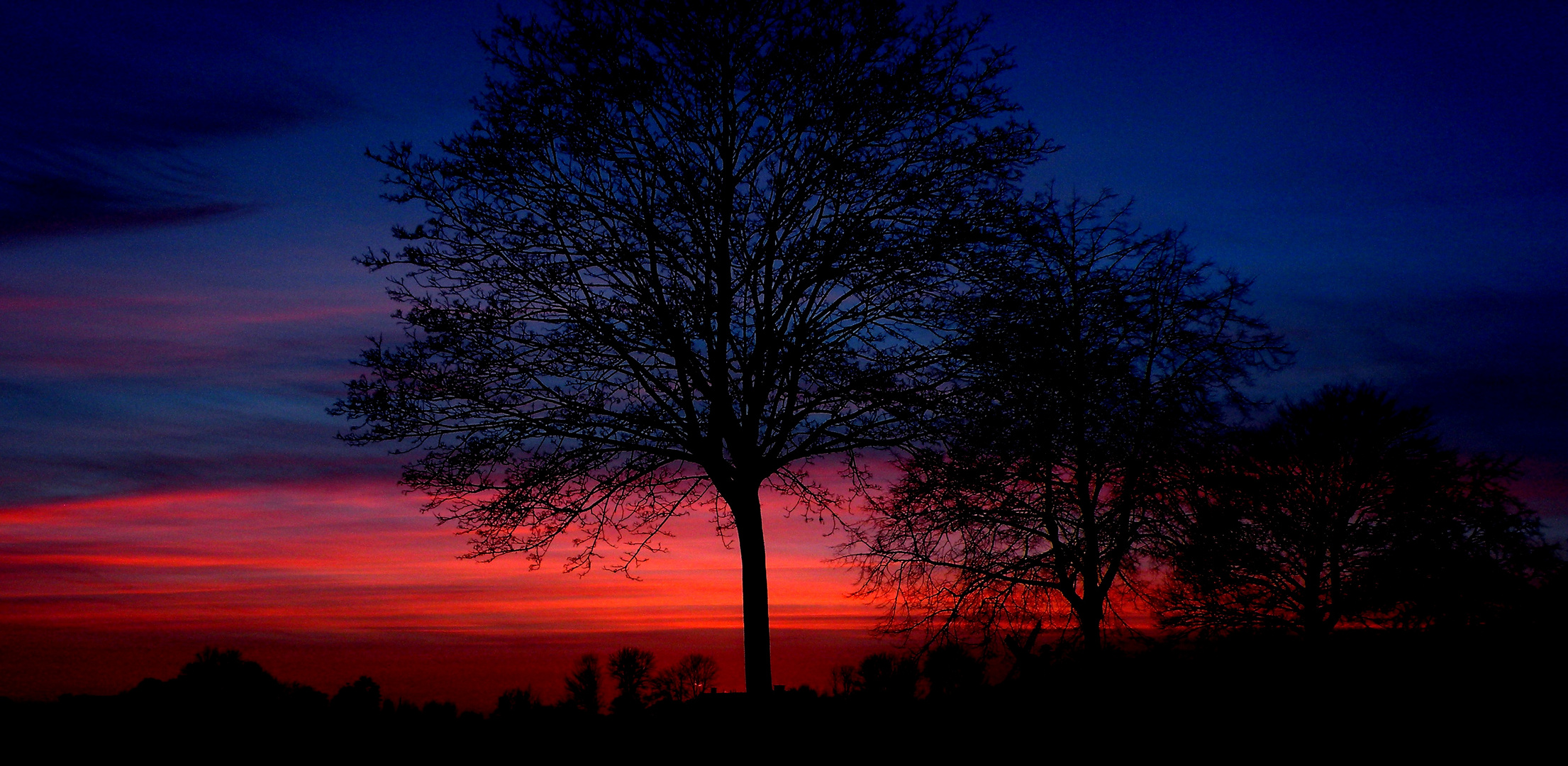 Sonnenuntergang Reitbrook 24.02.2014