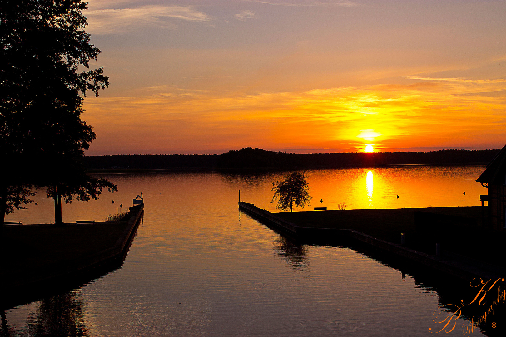 Sonnenuntergang Rheinsbergerr See