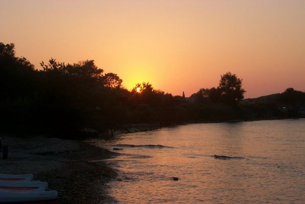 Sonnenuntergang Roda, Korfu