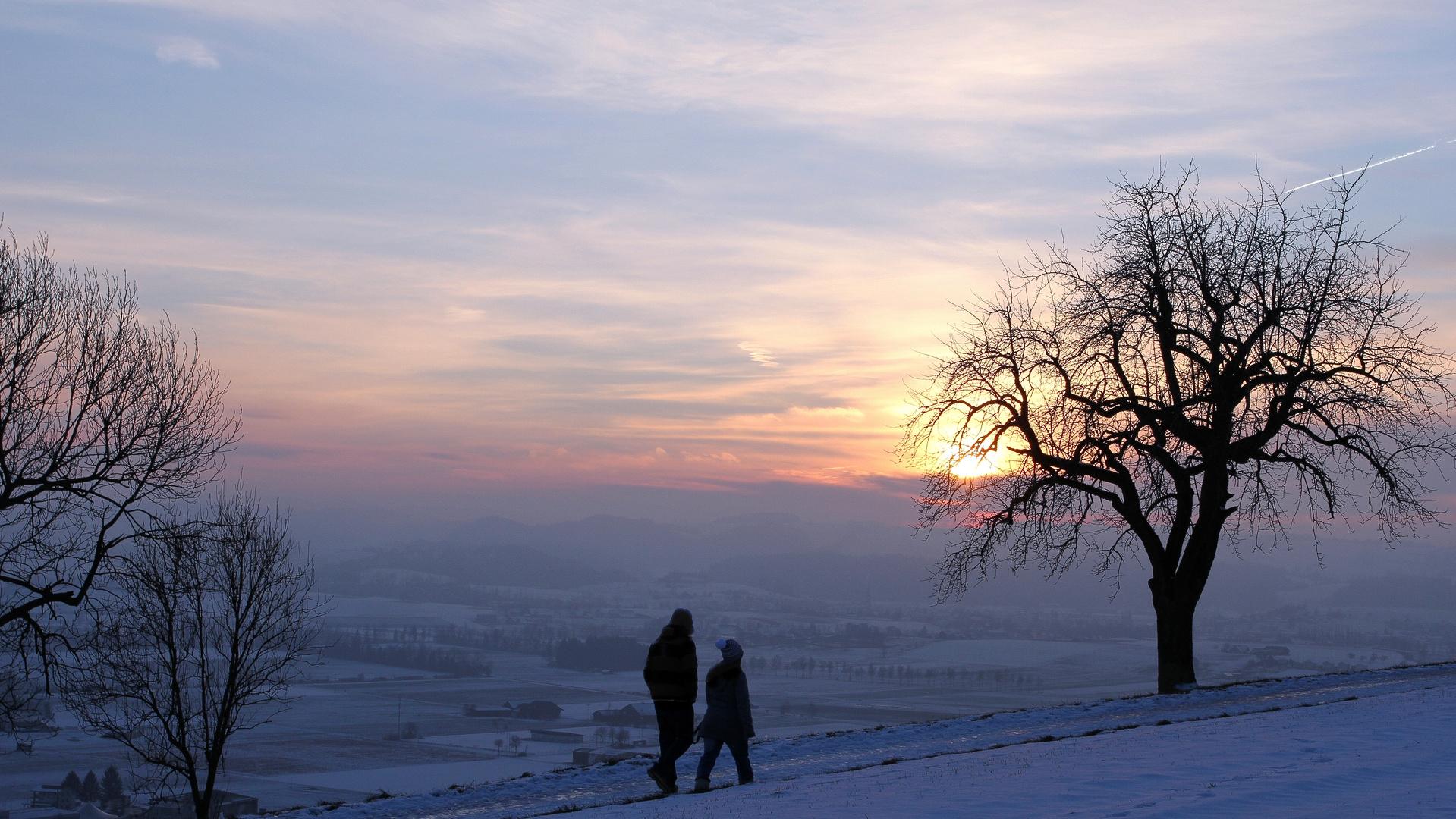 Sonnenuntergang Santenberg