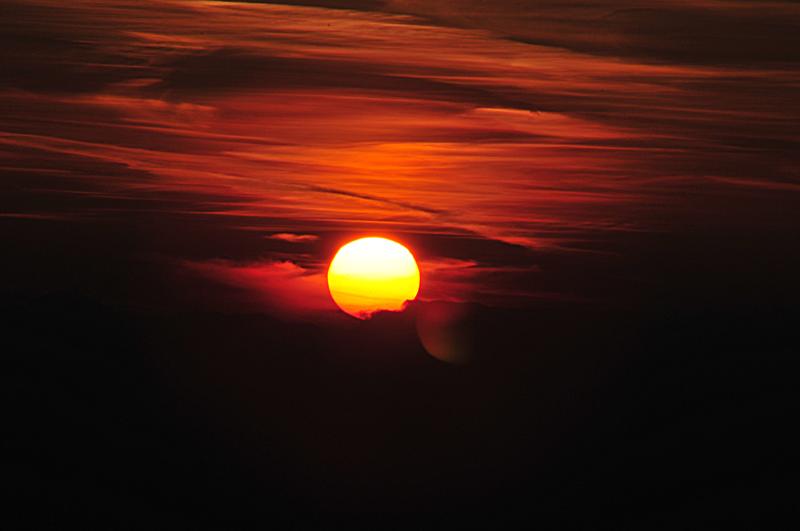 Sonnenuntergang schwarzwald Hochstraße