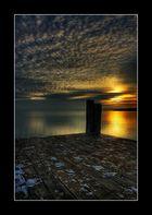 Sonnenuntergang Seebruck am Chiemsee