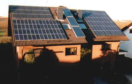 Sonnenuntergang / Solarmodule und Solarkollektoren