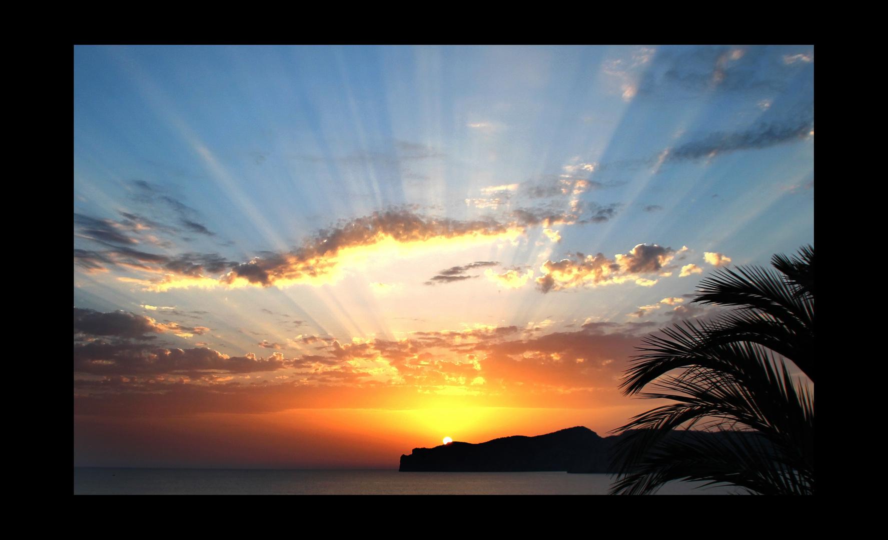 Sonnenuntergang - Sonnenstrahlen