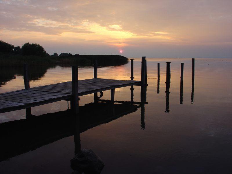 Sonnenuntergang Stettiner Haff (Bellin)
