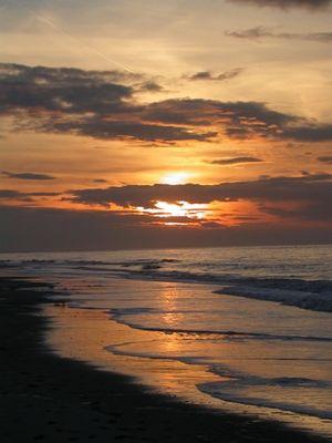 Sonnenuntergang Strand Amrum