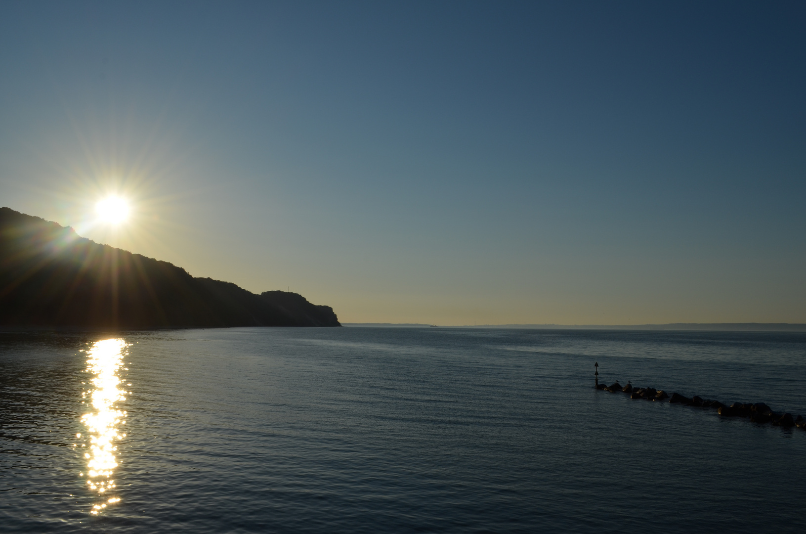Sonnenuntergang Strand Ostseebad Sellin