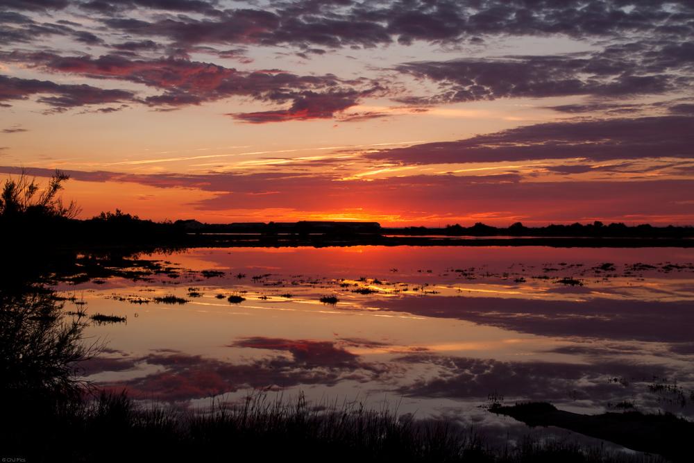 Sonnenuntergang Südfrankreich