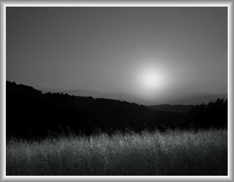 Sonnenuntergang S/W