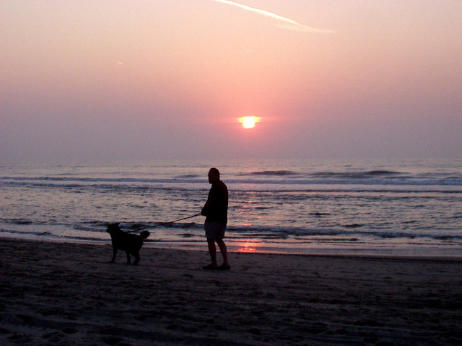 Sonnenuntergang Texel Sept 2003