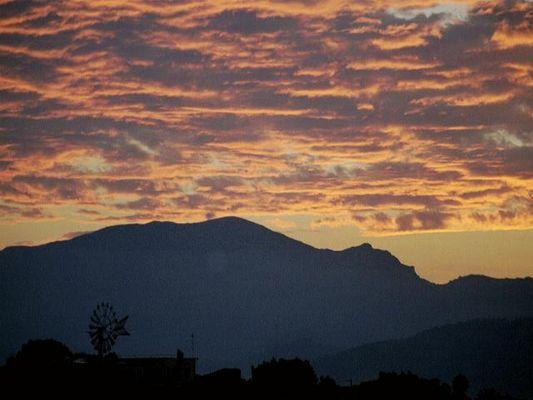 Sonnenuntergang Tramuntanagebirge